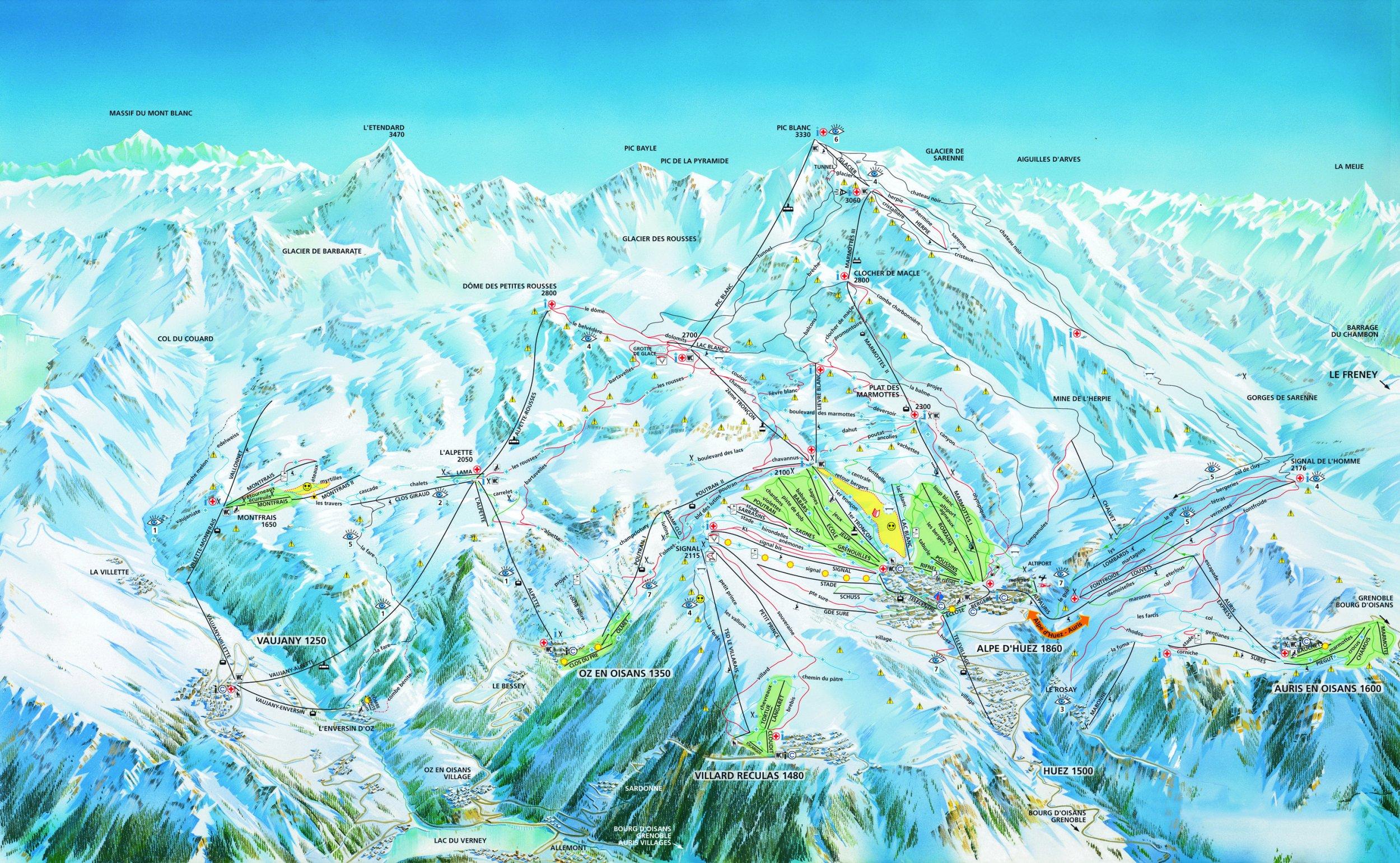 Lyžování Alpe d'Huez