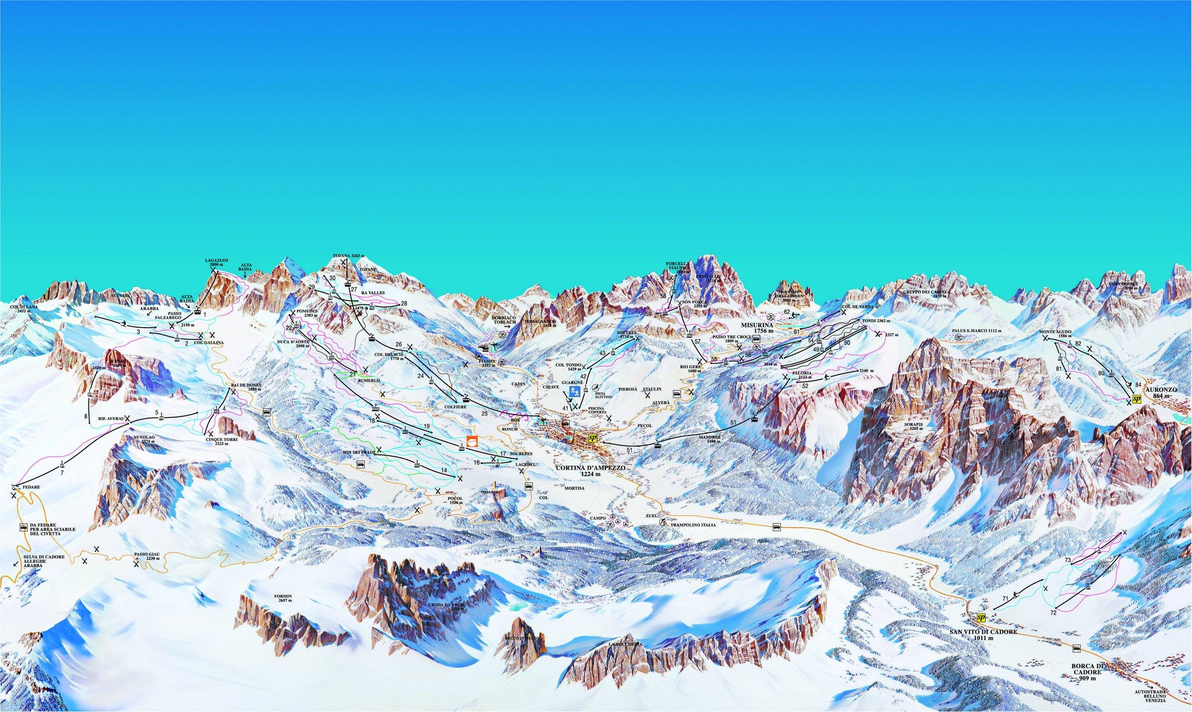 Lyžování Cortina d' Ampezzo